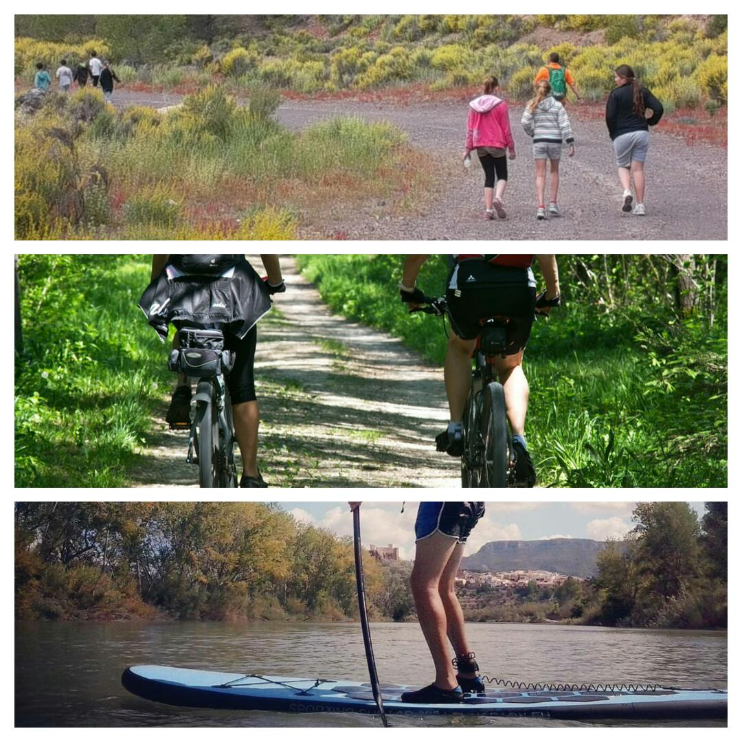 Elements. Ruta en bike, senderismo y paddle surf
