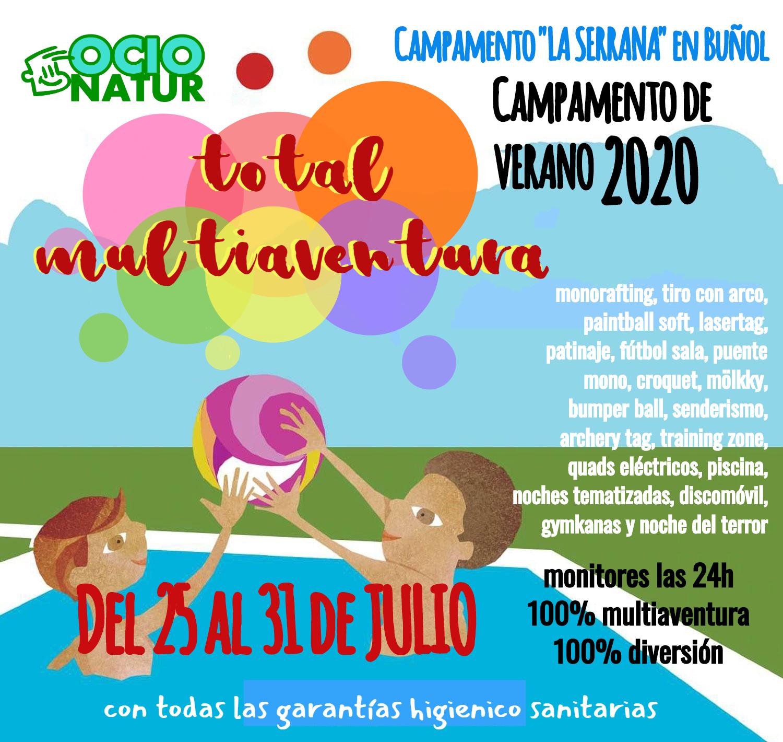 Campamento de Verano Multiaventura en Buñol. Total Multiaventura